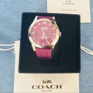 COACH silicon Purple watch new with Tags $98